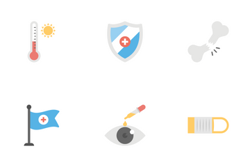 Medical And Health Flat Icons 2 Icon Pack