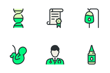 Medical Big Set - Green Icon Pack