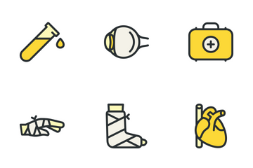 Medical Big Set - Yellow Icon Pack