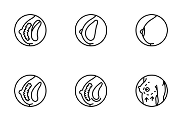 Medical - Breast Augmentation Icon Pack