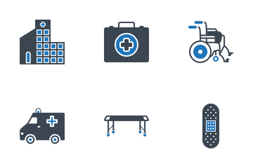 Medical Cyan Black Icons Icon Pack