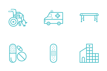 Medical Cyan Icon Icon Pack
