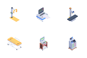 Medical Equipment And Health Checkup Icon Pack