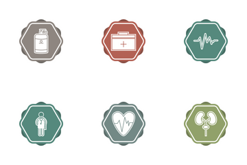 Medical Filled Color BG Icon Pack