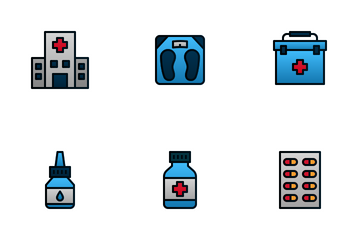 Medical (Filled Line) Icon Pack