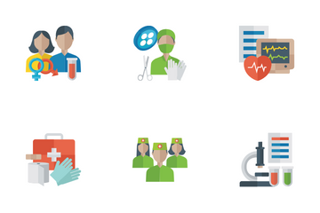 Medical Flat Icons Icon Pack