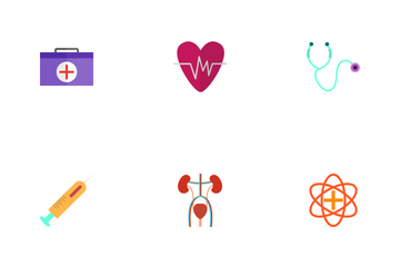Medical Flat Multicolor Icon Pack