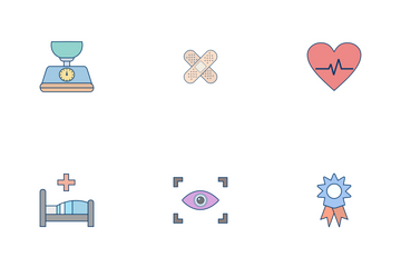 Medical Flat Outline Icon Pack