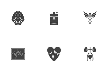 Medical Glyph Black Icon Pack