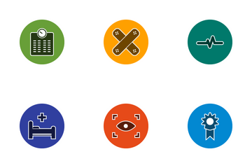 Medical Glyph Circle Icon Pack