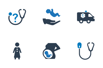 Medical & Health Care - Blue Series (Set 1) Icon Pack