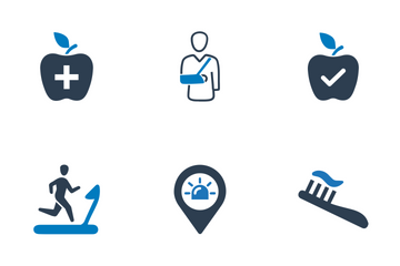 Medical & Health Care - Blue Series (Set 3) Icon Pack