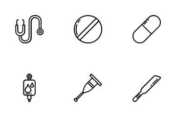 Medical Items - Outline Icon Pack