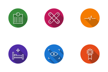 Medical Line Circle Icon Pack