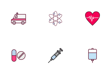 Medical Line Filled Icon Pack