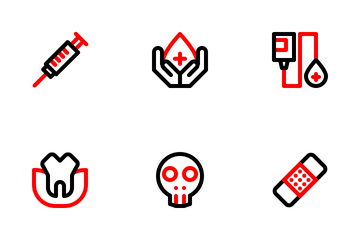 Medical Outline Colorized Icon Pack