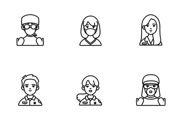 Medical Staff Characters Icon Pack