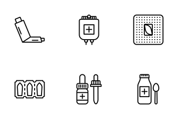 Medicine And Pharmacy Icon Pack