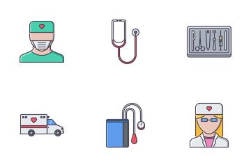 Medicine Filled Outline  Icon Pack