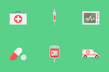 Medicine Flat Icons Icon Pack