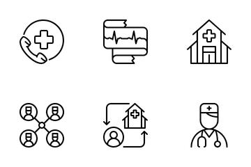 Medicine Outline (part 1) Icon Pack