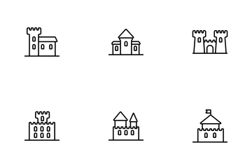 Medieval Buildings Icon Pack