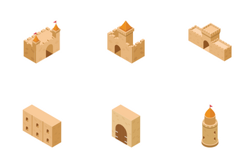 Medieval Castle Elements Icon Pack
