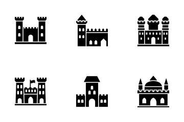 Medieval Castles - Solid Icon Pack