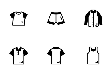 Men And Women Clothes Icon Pack