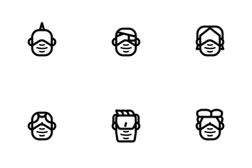 Men Facemask Icon Pack