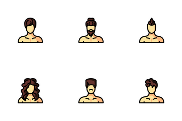 Men Hairstyle Icon Pack