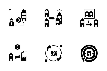 Merger And Acquisition Icon Pack