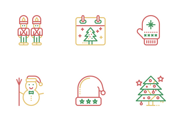 Merry Christmas Celebration Icon Pack