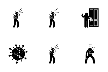 MERS Cove Virus Icon Pack
