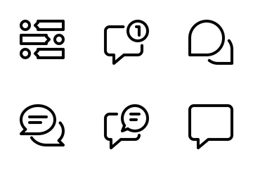 Message And Chat  Icon Pack