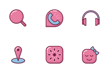 Messenger App (Filled Outline) Icon Pack