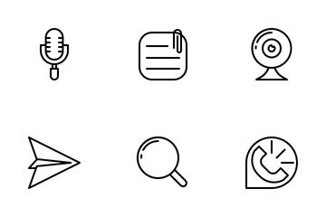 Messenger App (Outline) Icon Pack
