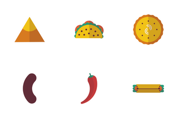 Mexican Typical Food Icon Pack