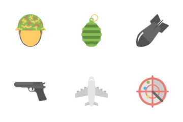 Military And Weapons Flat Icons  Icon Pack