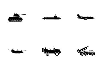 Military Combat Vehicle Icon Pack