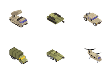 Military Transport Icon Pack