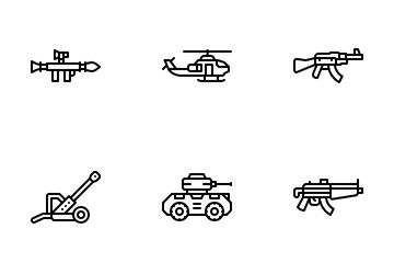 Military Weapon Icon Pack