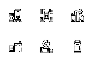 Milk Factory Product Icon Pack