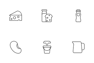 Milk Product Icon Pack