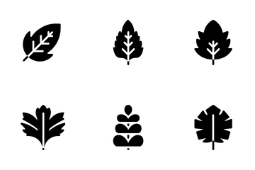 Minimal Leaves Icon Pack