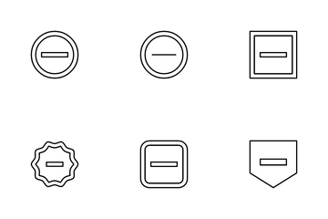Minus Icon Pack