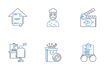 Miscellaneous 10 Line 2 Color Icon Pack