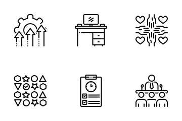 Miscellaneous 15 Line Icon Pack