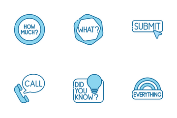 Miscellany Texts And Badges Icon Pack