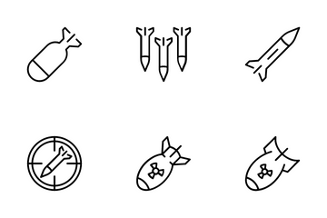 Missile And Air Bomb Icon Pack
